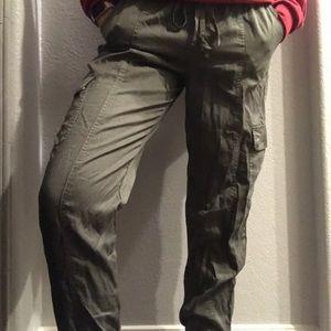 Green jogger pants